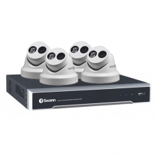 Swann 8 Channel 8MP (4K) NVR with 4 x 8.0MP NHD-881 4K Dome Cameras