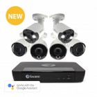 Swann 8 Channel 8MP Ultra HD NVR-8580 with 2TB HDD & 4 x 8MP NHD-887MSB Bullet Cameras & 2 NHD-887MSFB Spotlight Cameras
