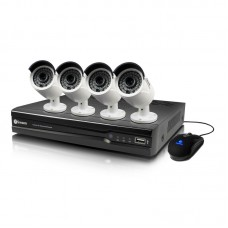 Swann 8 Channel Full HD NVR with 4 x 4.0 Megapixel NHD-818 Cameras