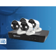 Swann 8 Channel 8MP Super HD NVR-8580 with 2TB HDD & 4 x SWNHD-887MSFB Spotlight Cameras